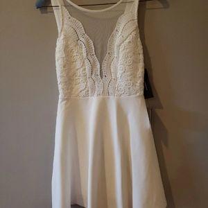 NWT White Lace A-Line LuLu Dress
